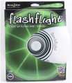 Nite Ize FLASHFLIGHT - LED Light Up Flying Disc - front view of green disc in box