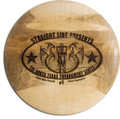 CUSTOM ENGRAVED WOOD DISC GOLF TROPHY, STRAIGHT LINE