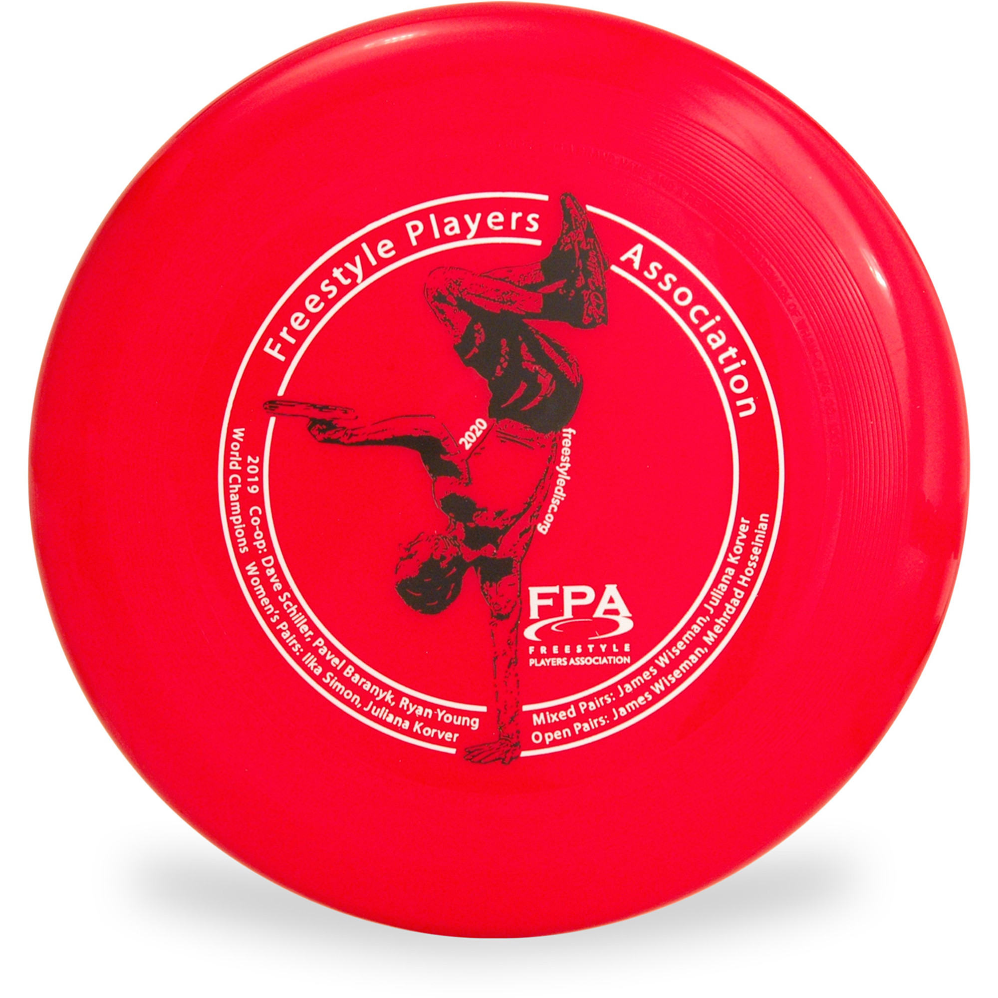 Wham-O 100 Mold-FPA 2020 Custom Design Freestyle Players Association Frisbee