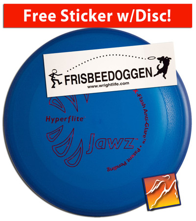 HYPERFLITE JAWZ DOG DISC WITH FREE STICKER