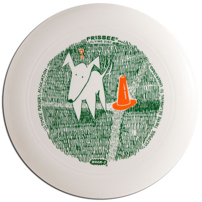 Wham-O UMAX FRISBEE - Quizzical Dog UPA Design Flying Disc