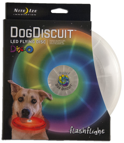 NITE IZE DOG DISCUIT LIGHT UP LED DOG DISC - DISCO
