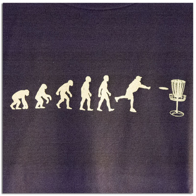 EVOLUTION OF DISC GOLF T-SHIRT, zoom front view