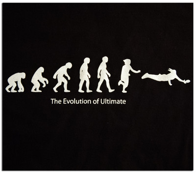 TWL T-SHIRT - EVOLUTION OF ULTIMATE FRISBEE T-SHIRT DESIGN, cropped view