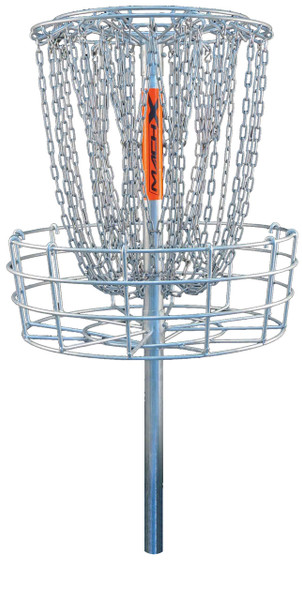 DGA MACH X DISC GOLF BASKET, cement-mounted, permanent