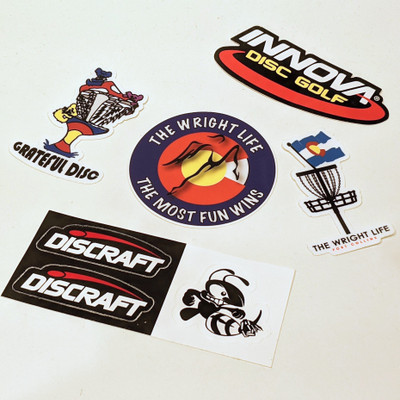 Disc Golf Sticker Pack - Set of 5
