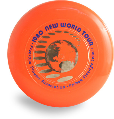 DISCRAFT SKY-STYLER FRISBEE COLLECTION - 1980 NEW WORLD TOUR 160g ORANGE FREESTYLE DISC