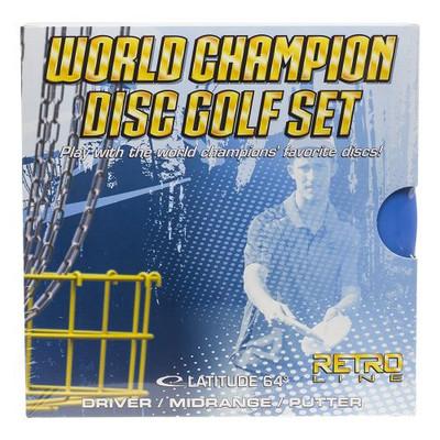 LATITUDE 64 WORLD CHAMPION DISC GOLF SET - RETRO DISC GOLF 3 PACK