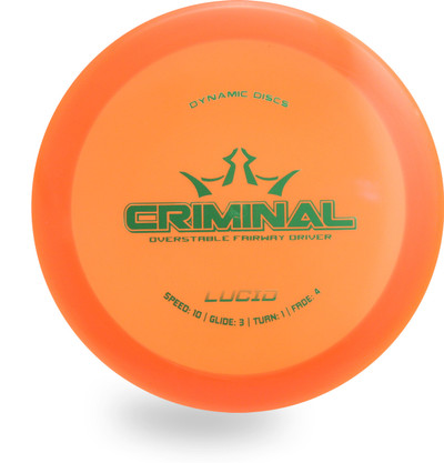 DYNAMIC LUCID CRIMINAL DISC GOLF DRIVER