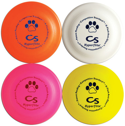 Hyperflite Competition Standard Dog Discs 4 PACK - Four K9 Frisbee (Asst Colors)