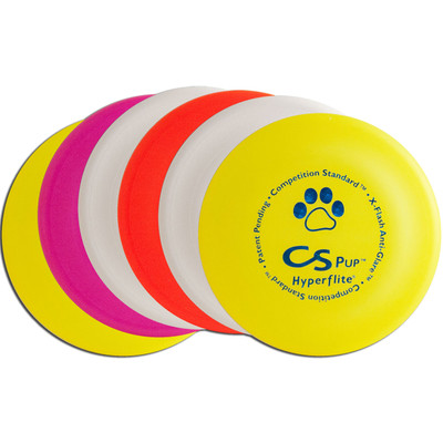 Hyperflite PUP COMPETITION STANDARD 6 PACK Frisbee Dog Discs - Set of Six (Asst. Colors)