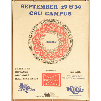 1979 Colorado State Championships Roses, Fort Collins Poster