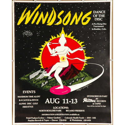 1977 Windsong Dance of the Disc - Boulder Poster