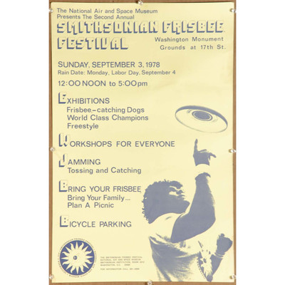 1978 SMITHSONIAN FRISBEE FESTIVAL POSTER