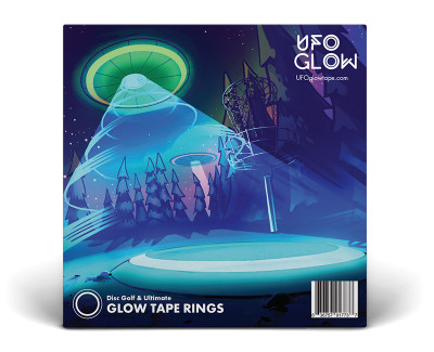 UFO GLOW TAPE RINGS FOR DISC GOLF & ULTIMATE - STICK ON