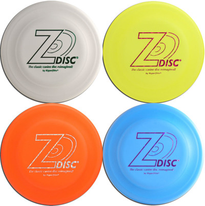 Hyperflite Z-DISC 4 PACK Dog Discs - Four Canine Frisbees (Asst Colors) K9