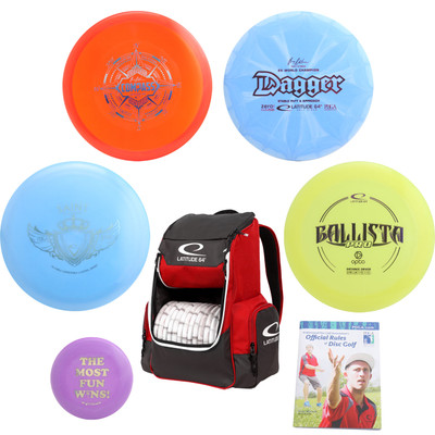 Latitude 64ÌÎå«Ì´Ì Complete Disc Golf Gift Set - 4 Best Discs + Popular Core Backpack Bag