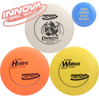 Innova Floating Disc Golf Gift Set - 3 Discs Pack (Floats on Water) + Mini Marker Disc, Sticker