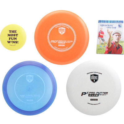 Discmania Complete Disc Golf Variety Set - Driver, Mid-Range & Putter + Mini Marker Disc, Rules Book