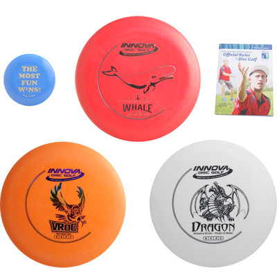 Innova Complete Disc Golf Gift Set - 3 Discs Pack (Floating Driver) + Mini Marker Disc, Rules