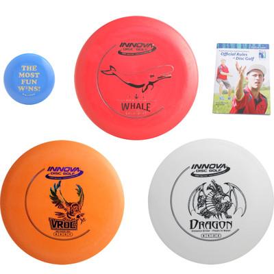 Innova Complete Disc Golf Gift Set - 3 Discs Pack (Floating Driver) + Mini Marker Disc, Rules