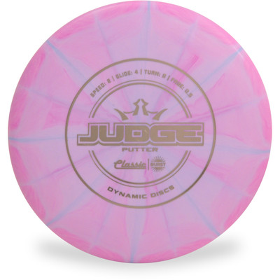 Dynamic Discs CLASSIC BURST JUDGE Disc Golf Putter & Approach - front view purple