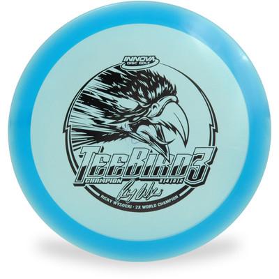 Innova CHAMPION TEEBIRD3 - RICKY WYSOCKI Fairway Driver Golf Disc Blue Front View