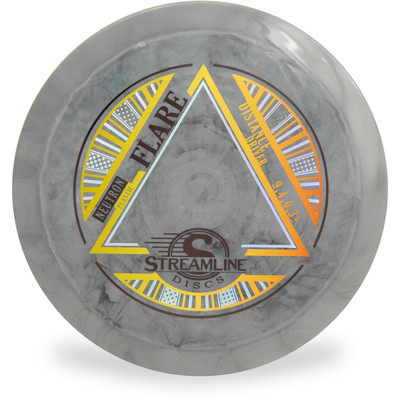 Streamline NEUTRON FLARE Disc Golf Driver - front view of gray disc