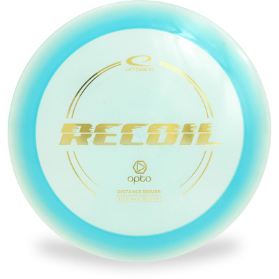 Latitude 64 OPTO RECOIL Driver Golf Disc Blue Front View