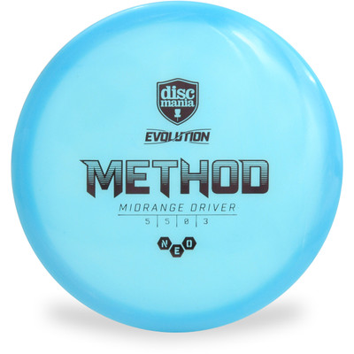 Discmania Evolution NEO METHOD Mid-Range Golf Disc Blue Top View