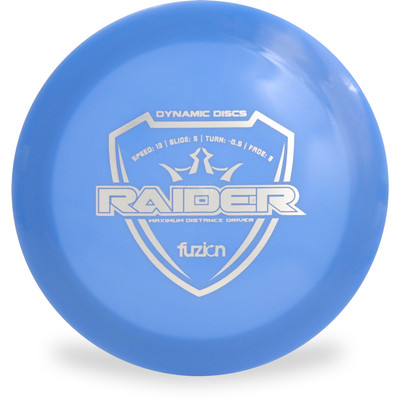 Dynamic Discs Fuzion Raider Distance Driver Blue Front View