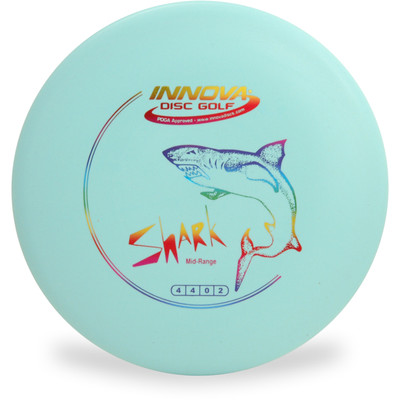 Innova DX SHARK - SUPER LIGHT Mid-Range Golf Disc Blue Top View
