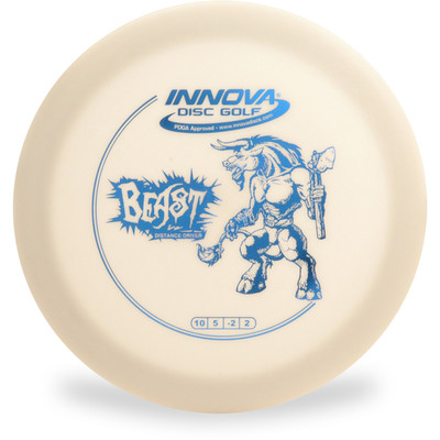 Innova DX BEAST - SUPER LIGHT Driver Golf Disc - top view white disc