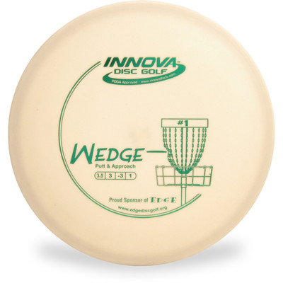 Innova DX WEDGE - SUPER LIGHT Putter & Approach Golf Disc White Top View