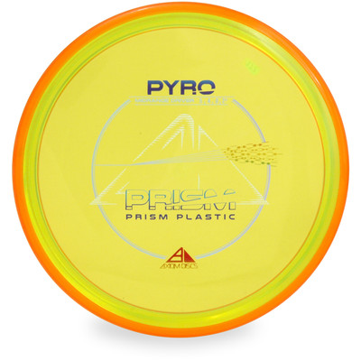 Axiom PRISM PYRO Mid-Range Golf Disc Yellow Top View