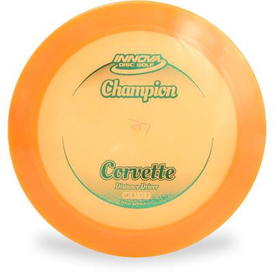 Innova CHAMPION CORVETTE Distance Driver Golf Disc Orange Top View