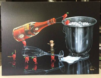 "MICHAEL GODARD PRINT FOR SALE ""PREPARE THE PERFECT POUR""  - Signed & Numbered"