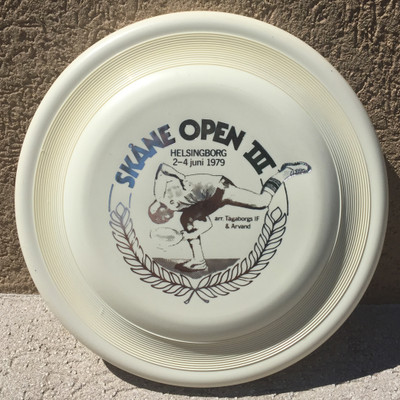 WHAM-O FASTBACK FRISBEE - SKANE OPEN III '79 - FLYING DISC