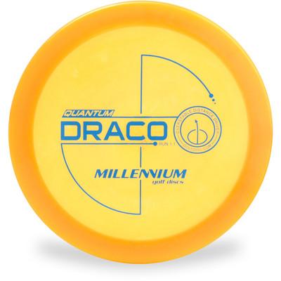 Millennium QUANTUM DRACO Driver Golf Disc Yellow Top View