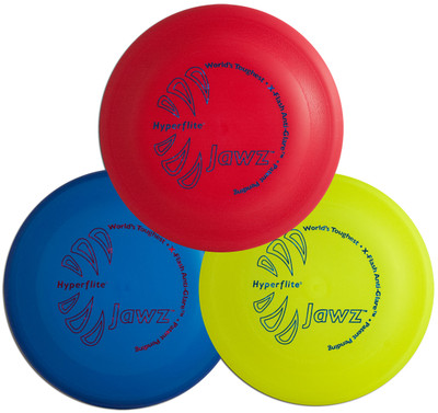 Hyperflite Jawz 3 Pack - Durable Frisbee Dog Discs - Heavy Duty and Tough