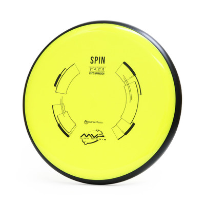MVP NEUTRON SPIN Putter & Approach - top view of yellow disc