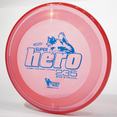 Hero Disc SUPER HERO Dog Frisbee 235mm Canine Flying Disc Red Top View