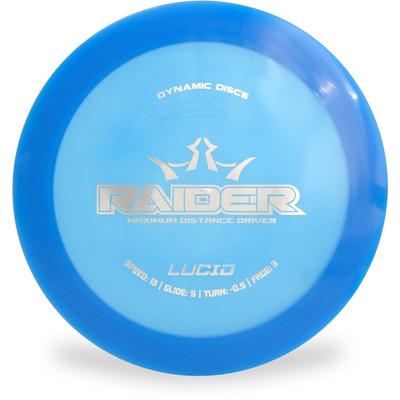 Dynamic Discs Lucid Raider Distance Driver Blue Top View
