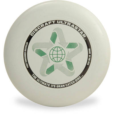 Discraft ULTRASTAR - 175g Post-Consumer Recycled Gray Top View