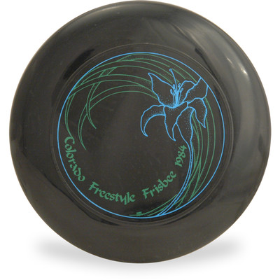 Discraft SKY-STYLER Freestyle Disc - Yabe design - Colorado Freestyle Frisbee 84 Black Top View