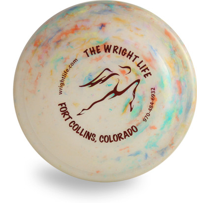 WHAM-O RECYCLED FASTBACK DOG DISC - WRIGHT LIFE DESIGN FRISBEE