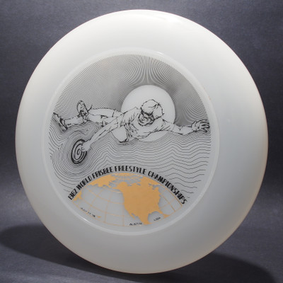 1982 World Freestyle Frisbee Championships Austin TX Clear w/ Black Matte and Metallic Gold