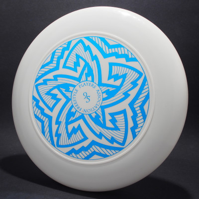 Sky-Styler FPA 1995 Tour Disc White w/ Metallic Blue - T90 - Top View