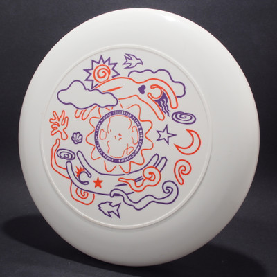 Sky-Styler FPA 1999 World Freestyle Flying Disc Championships White w/ Orange and Purple Matte