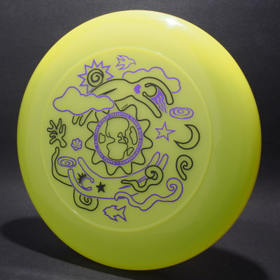 Sky-Styler  FPA 1999 World Freestyle Flying Disc Championships Bright Yellow w/ Black Matte and Metallic Purple